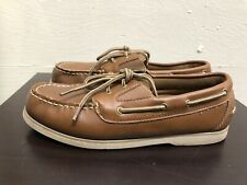 Austin - Brown Boy's (YOUTH) Boat Shoes man made materials size 6