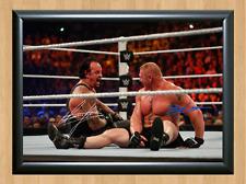 Undertaker Brock Lesnar WWE Signed Autographed A4 Print Poster Photo Memorabilia