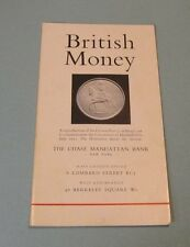 1959 The Chase Manhattan Bank British Money Guide New York London West End Maps