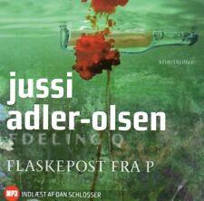 MP3 CD HÖRBUCH DÄNISCH Jussi Adler-Olsen, Flaskepost Fra P, Dansk