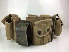 1918 WWI World War I Browning Automatic Rifle BAR Belt W/ Butt Cup
