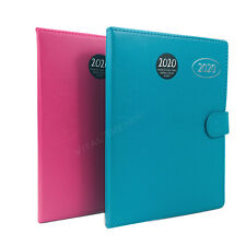 2020 Diary A5 Ladies And Address Book With Button Clip Soft Cover Week To View