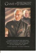 Game of Thrones Season 3 Quotable Insert Trading Card #Q22
