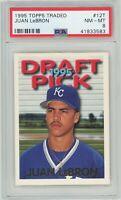 1995 Topps Traded #12T Juan LeBron RC (Beltran pictured) Royals PSA 8 NM-MT