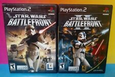 Star Wars: Battlefront I & II 1 2 - PS2 Playstation 2 COMPLETE Game Lot Bundle