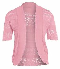 New Ladies Knitted Crochet Fishnet Jumper Tops 16-26