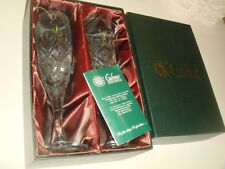 Set of 2 Genuine Galway Irish Crystal Champagne Flutes ( Millennium Piece ) NIB
