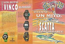 X1658 Orologi CASIO - Pubblicità del 1994 - Vintage advertising