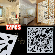 12 x White Plastic Hanging Screen Room Divider Wall Panels Partition Curtain 15