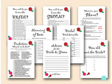 Print Yourself Rose Theme Bridal Shower Games BS05