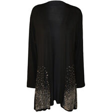 Ladies Plus Siz Sequin Glitter Cardigan Long Sleeved Open Wrap Stretch Top 14-28