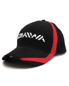 "NEW 2021 Daiwa ""logo"" Baseball Cap Black/Red (DC4)"