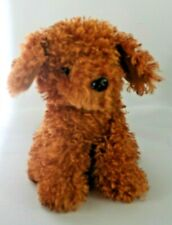 "Dan Dee Soft Shaggy Plush Brown Puppy Dog 9"" Stuffed Animal"