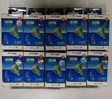 LOT DE 10 SPOT LED GU5.3  7W  BLANC CHAUD 3000K  VT1837