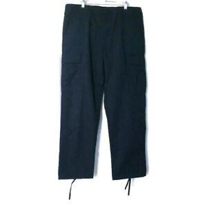 Horace Small Mens Large Cargo Uniform Work Pants Drawstring Hemline Button Fly