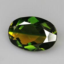 8.7Ct Man Made Bi Color Glass Yellow Green Oval Cut MQYG13
