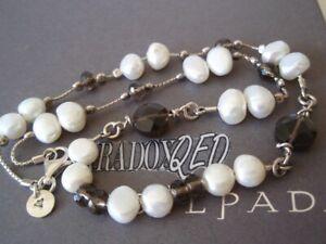 SILPADA RARE RETIRED Sterling Silver 925 Smoky Quartz Pearl Necklace N1040 $99 A