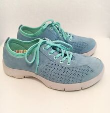 Dansko Blue Suede Leather Slip Resistant Sneakers Shoes Women Size: 39 / 8.5-9