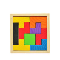 Wooden Board Kids Toy Tangram Puzzles Tough Colorful Convenient Educational Baby