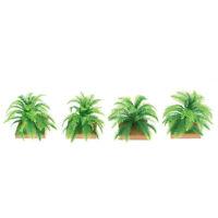 2x Miniature Plant Model 6CM Simulation Imitative Tree Shrub Building Model U_X