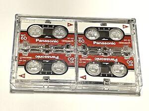 4 Pack Panasonic Microcassette MC-60 Tapes RT-60MC