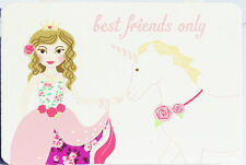 `Best Friends Only` Princess Wooden Plaque, wooden with pink ribbon, sweet gift