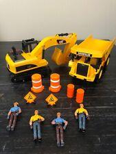 Toy State Caterpillar Dump Truck, Excavator, Figure Set Lights Sound Movement