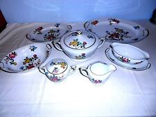 "Vtg. Mikado China (Occupied Japan) ""Mandalay"" Serving Dishes (7 Pcs) - Excellent"
