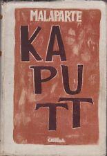 Curzio Malaparte, Kaputt, Casella editore, romanzo, 1945, letteratura italiana