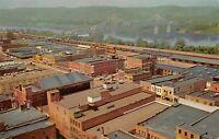 Huntington West Virginia WV c1960 Postcard Aerial View With Ohio River