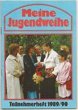 Ü958 BROSCHÜRE DDR MEINE JUGENDWEIHE TEILNEHMERHEFT 1989/90 ELSTERWERDA