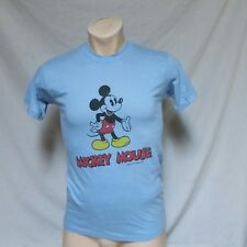 VTG 80s Mickey Mouse T Shirt Tee Double Sided Walt Disney Productions Thin Large