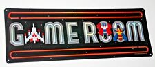 Game Room Galaga Metal Embossed Sign Midway Arcade Video Game Coin Amusement