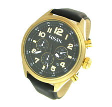 FOSSIL CHRONOGRAPH LEATHER 100M MENS WATCH DE5000