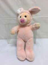 "Sugar Loaf Plush Pink Pig in Bunny Costume 15"" Stuffed Animal"