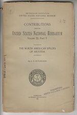 1924 BOOKLET - NORTH AMERICAN SPECIES OF ARISTIDA - U.S. NATIONAL HERBARIUM