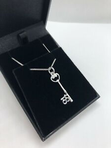 925 STERLING SILVER 18th BIRTHDAY KEY NECKLACE PRESENT CHARM/PENDANT + CHAIN