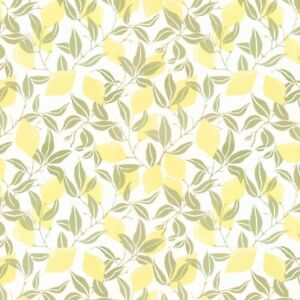 Laura Ashley Lemons Yellow Wallpaper Paste The Wall (Same Batch) FREE DELIVERY