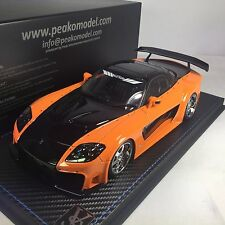 1/18 Peako JP Hobby Mazda RX-7 Veilside Orange / Black #82501