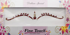 Bindi rouge bijoux de peau mariage autoadhesif strass front sourcils 2635