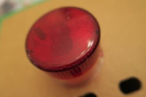 Rubbolite Red Brake Tail light round lens 7505 Vintage Classic truck lorry