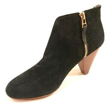 Matt Bernson Women's Jagguar Cutout  Black Suede Booties, 5 B(M) US