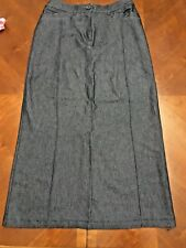 LADIES LONG DENIM SKIRT FROM GEORGE  SIZE 10  EX COND