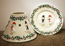 Chelsea Home Imports New York-Candle Topper & Plate - Christmas - Ducks - Holly-