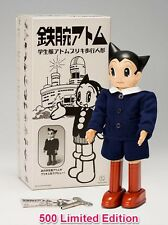 F/S Limited 500 Japanese Classic ASTROBOY SCHOOL UNIFORM Windup Tin Toy New Gift