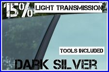 Oscuro Espejo De Plata 15% De Luz trans coche ventana de entintado película 6mx75cm tint+free Kit