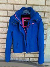 Hollister California Winter Jacket Blue w/Hot Pink Fleece-lined XS EUC!!! NICE!!