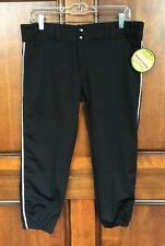 Champro Sport Black Tournament Fastpitch Pant With Piping Women's Sz L