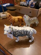 Lot Of (3) Wolf Resin Figures Westland