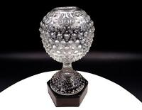 "DUNCAN MILLER PRESSED GLASS #118 HOBNAIL CLEAR 6 1/2"" IVY BALL 1930-1955"